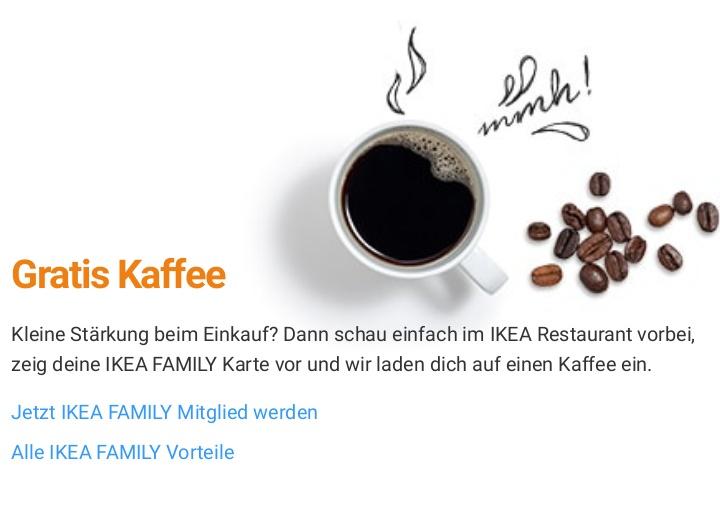 Gratis Kaffee bei Ikea - Bundesweit [Ikea Family Mitglieder]