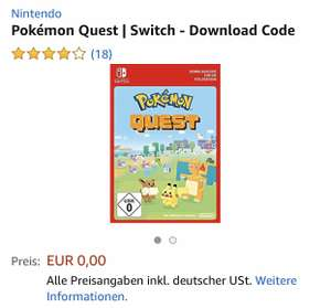 Pokémon Quest Nintendo Switch (Amazon)