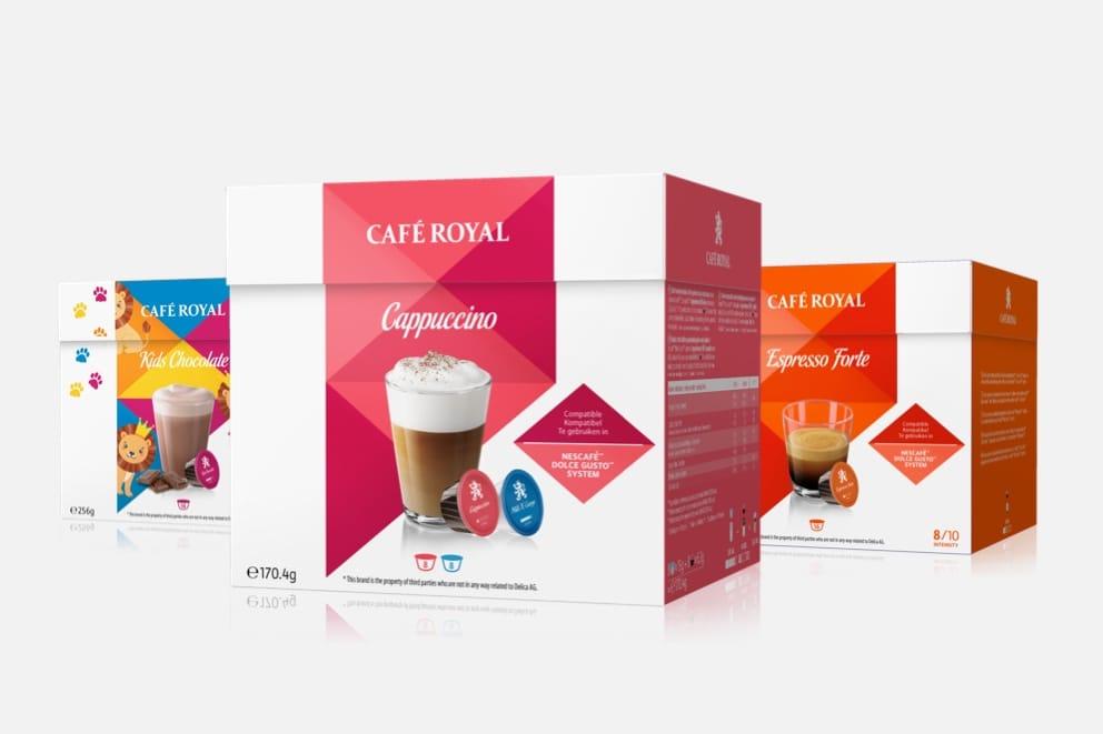 Cafe Royal Dolce Gusto-Kapseln (alle Sorten, 1,89 € ab 20 €)