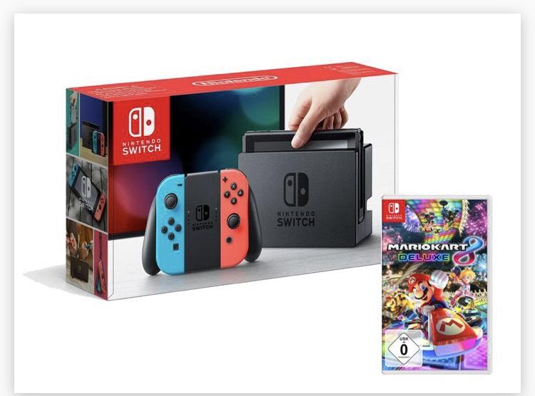 Nintendo Switch Konsole Neon-Blau/Neon-Rot mit Mario Kart 8 Deluxe (Lidl Online) 349€
