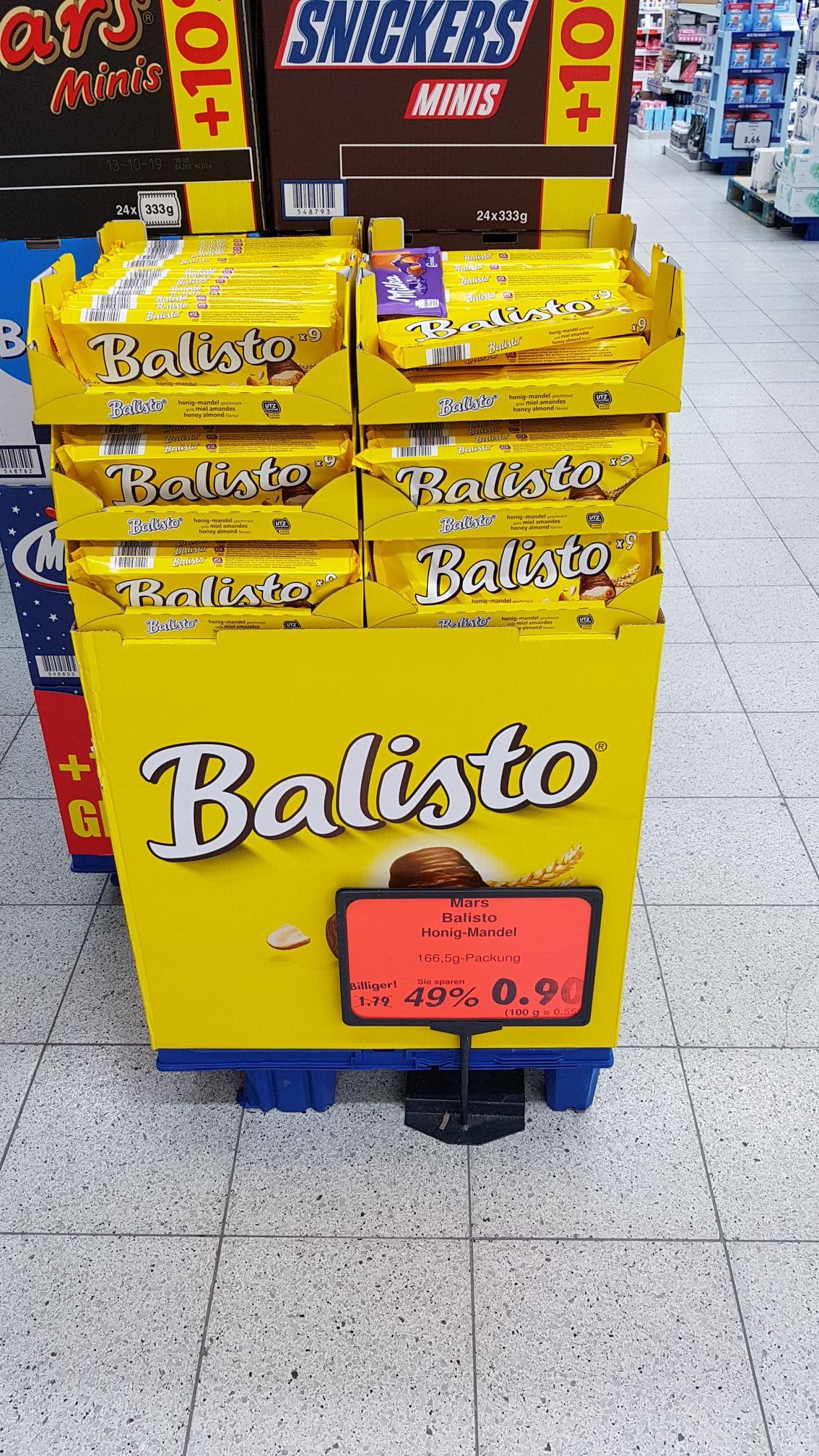 """Balisto Müsli-Mix """"Honig-Mandel"""" 9er Packung für 0,90 € @ Kaufland Wittenberge, Dresden, Halle etc."""