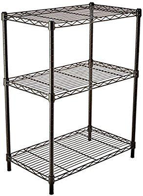[AmazonBasics] Lagerregal mit 3 Regalböden | bis zu 115 kg pro Regalboden | Schwarz