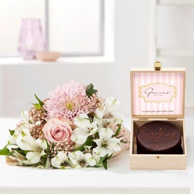Jetzt an Valentinstag denken: Blumen mit 15% Rabatt (auch Sale) vorbestellen, z.B. Geschenkset