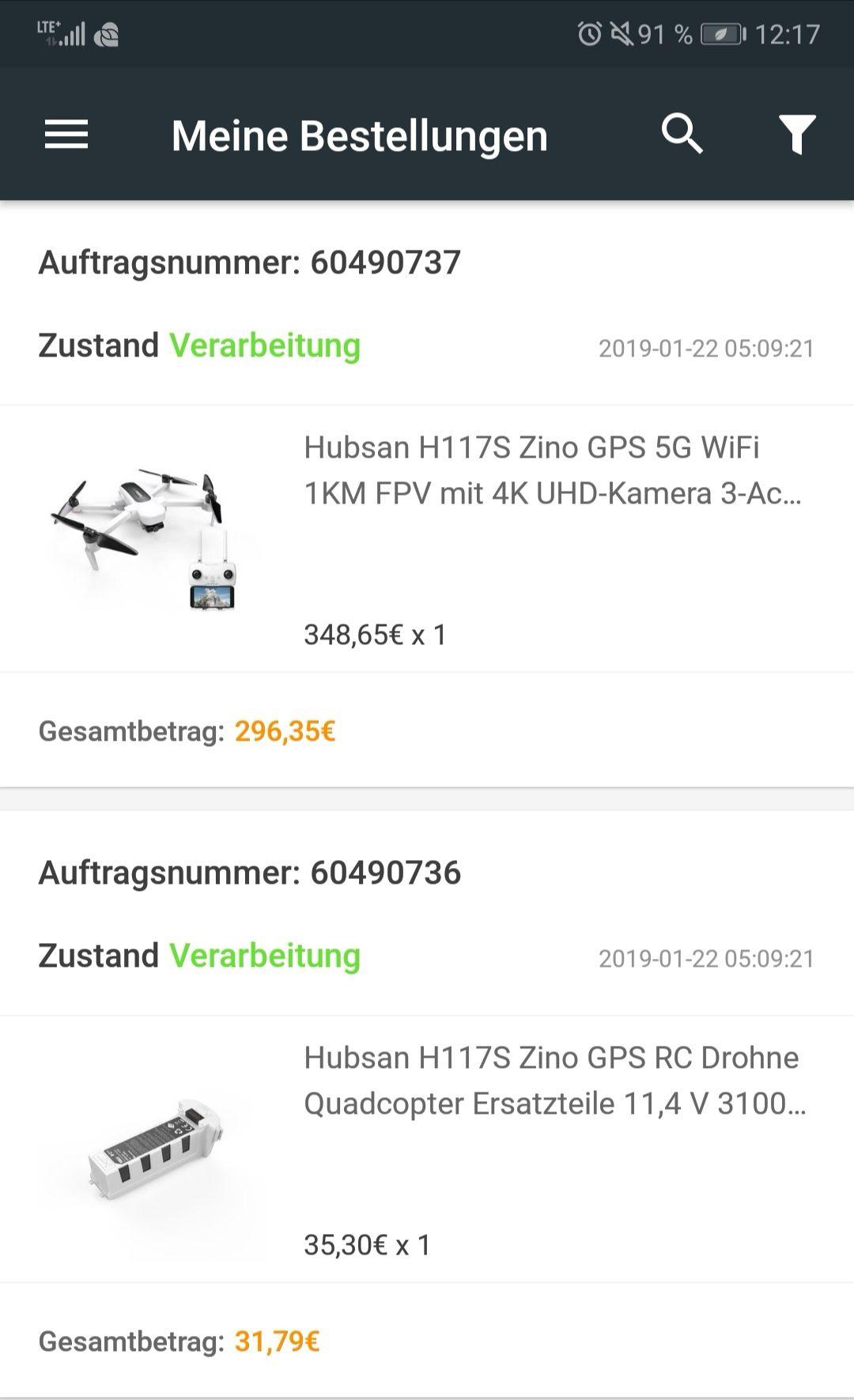 Hubsan Zino Drohne Drone Multikopter zum Bestpreis