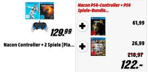 Nacon Controller + vier PS4 Spiele [PlayStation 4]: FIFA 19, Shadow of the Tomb Raider, Fallout 76, GTA V für 122€
