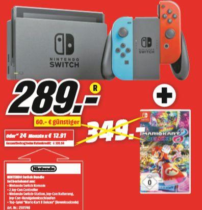 [Regional Mediamarkt Köln-Kalk] Nintendo Switch Mario Kart 8: Deluxe Bundle für 289,-€