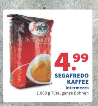 [Grenzgänger NL, 2Bruder, Venlo] 1kg Segafredo Intermezzo Kaffee ganze Bohnen