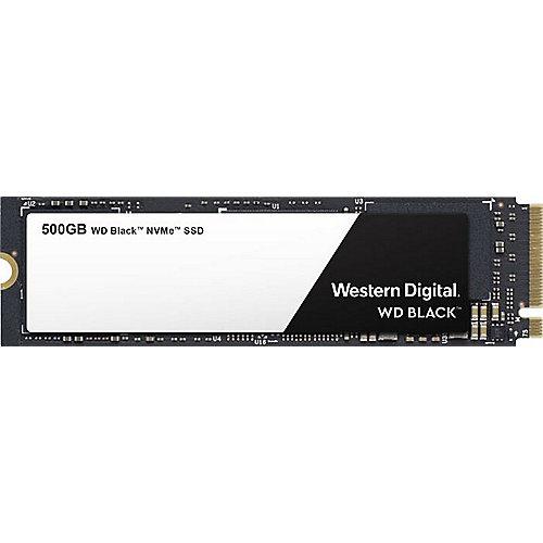 [cyberport]  Western Digital WD Black NVMe SSD 500GB, M.2 [2018] (WDS500G2X0C) R3400/W2500