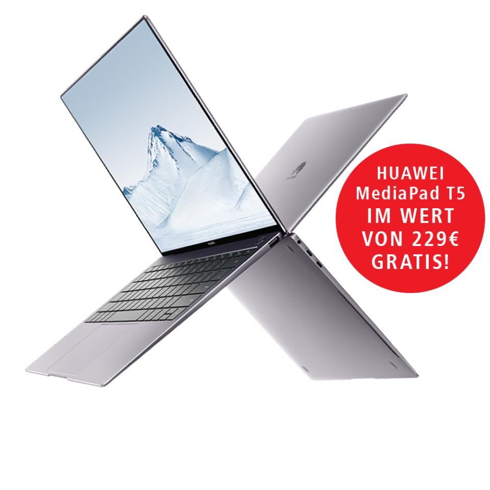 Gratis MediaPad T5 und 200€ Cashback als Student beim Kauf eines MateBook X Pro