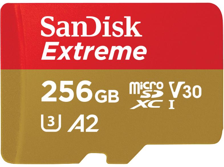 SanDisk Extreme A2 U3 V30 microSD microSDXC 256GB (MediaMarkt)