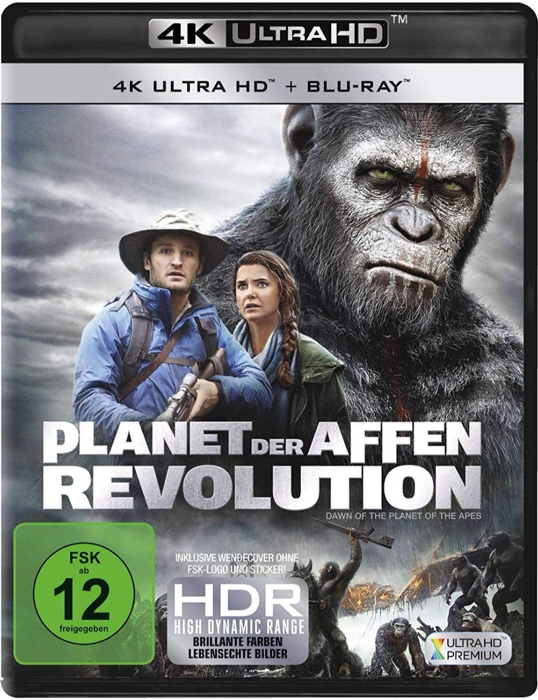 Planet der Affen Revolution 4k auf Amazon Italien