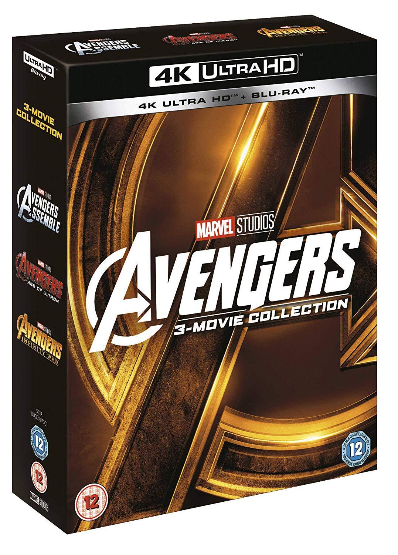 Avengers Trilogie (4K Blu-ray + Blu--ray) für 48,19€ (Amazon UK)
