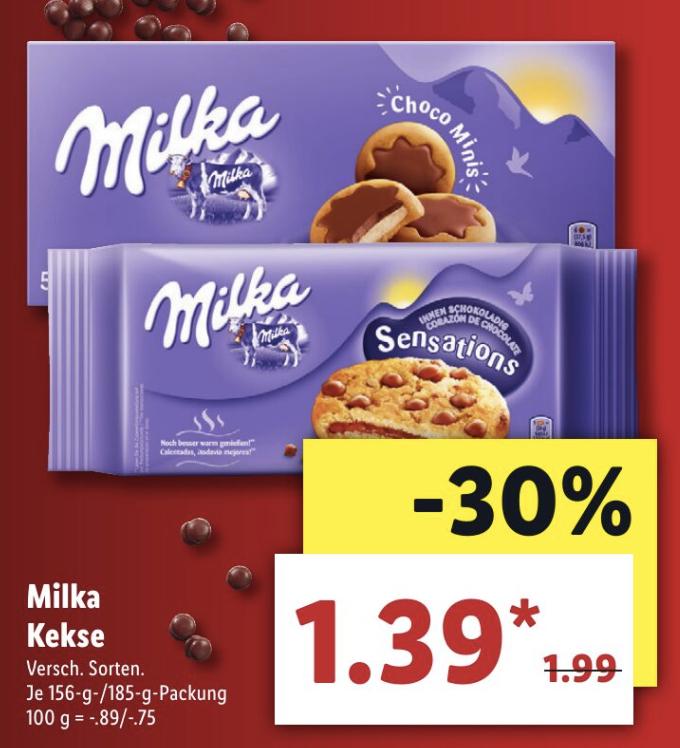 [ab 28.1 bei LIDL] Milka Kekse und Kinder Hippo Angebot fürs Gratis Testen ab 31.1