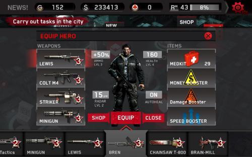 Dead Trigger für Android kostenlos im Android Play Store + Account mit Geld und Waffen