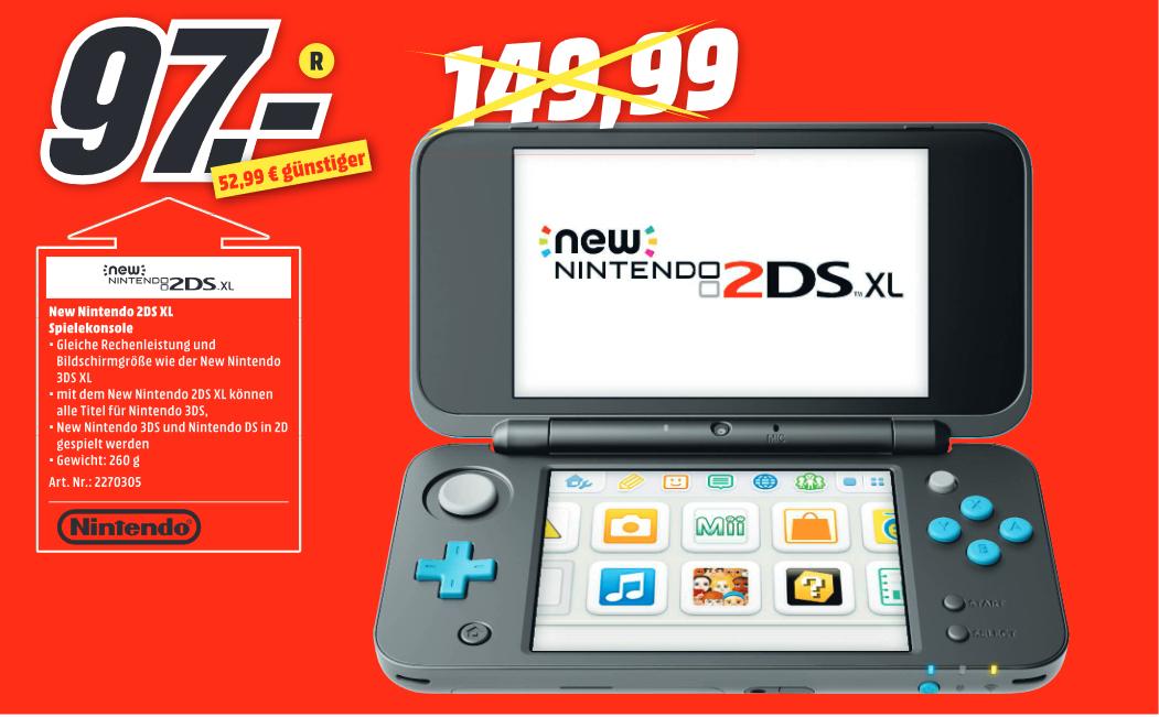 [Lokal MediaMarkt Karlsruhe Ettlinger Tor] New Nintendo 2DS XL schwarz/türkis oder weiß/orange
