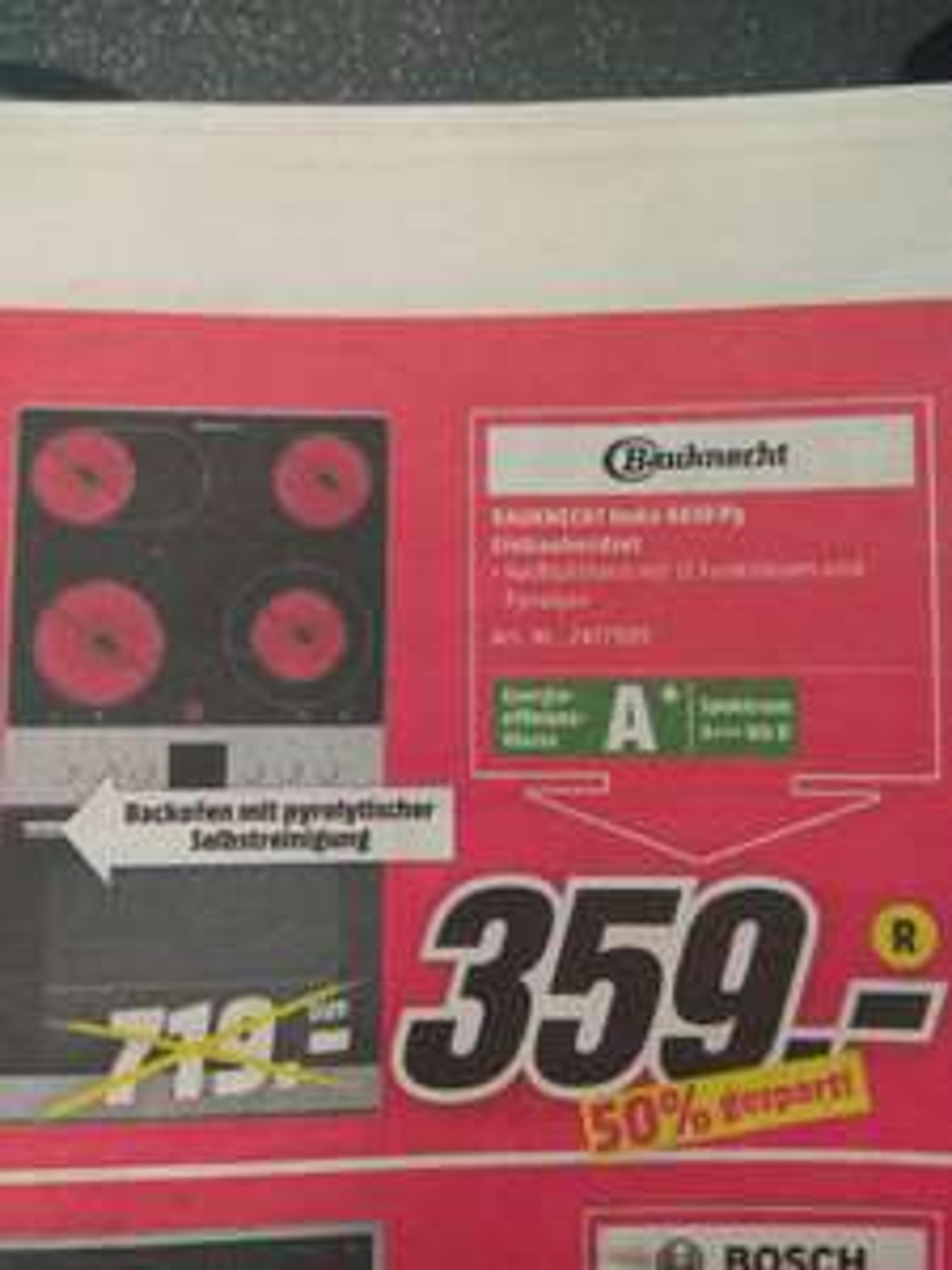 Kassel Media-Markt Bauknecht Heko 4610 Py Tiefstpreis lokal