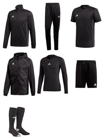 adidas Trainingsset Core 18 (7-teilig), 6 Farbkombis möglich, für 89,95 € inkl. Versand @ geomix.de