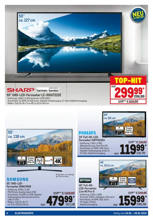 """Sharp UHD Fernseher 50"""" für nur 299€(356,99)"""