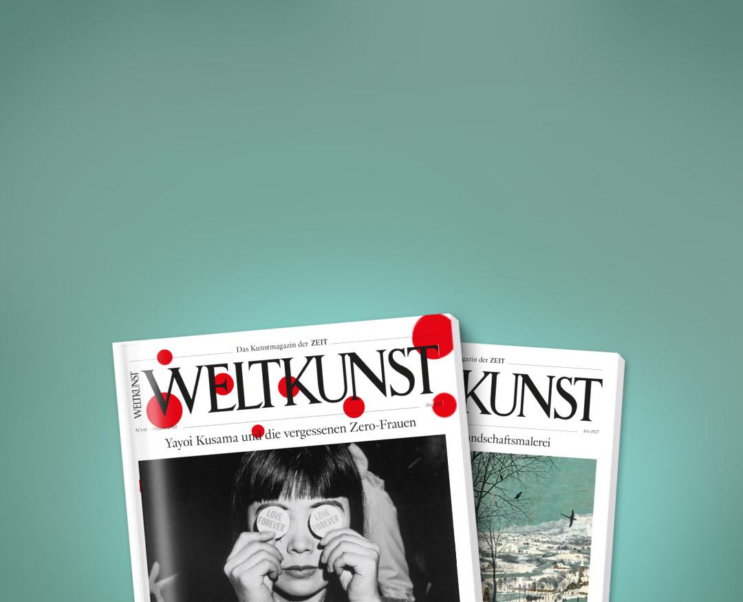 Magazin ZEIT * WELTKUNST * zwei Ausgaben gratis -- Kündigung notwendig WERT 22,-€