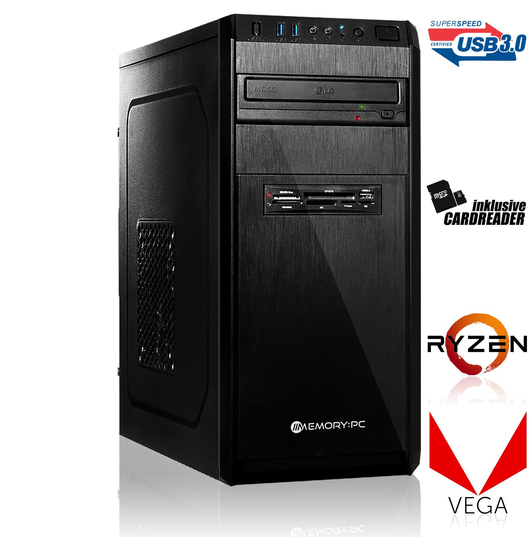Office / Multimedia PC [konfigurierbar] Ryzen 2400G, ASUS A320M-K, 8GB DDR4-2666, 120GB SSD (mit Ryzen 2200G, 240GB SSD, 8GB DDR4-3000=288€)