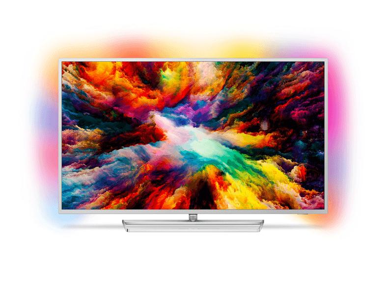 PHILIPS 50PUS7363 LED TV (Flat, 50 Zoll, UHD 4K, SMART TV, Ambilight, Android TV) für 555€ statt 699 – MediaMarkt