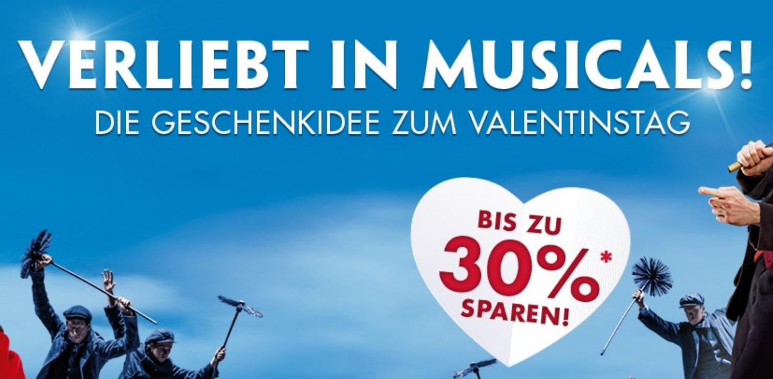 [Stage] Musical Valentinsspecial bis zu 30% Nachlass - gültig bis 24.02.2019