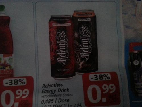 [HIT bundesweit ab Montag 12.11.] Relentless Energy Drink 0,485l Dose für 0,99 €