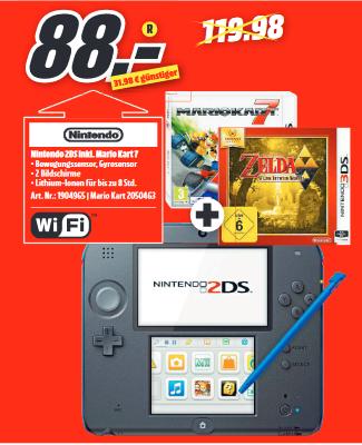 [Lokal MediaMarkt Bremerhaven/Wilhelmshaven] Nintendo 2DS Mario Kart oder Tomodachi Life + The Legend of Zelda: A Link Between Worlds