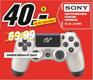 [Regional Mediamarkt Weiden] Sony PlayStation 4 DualShock 4 Wireless Controller Limited Edition GT Sport für 40,-€