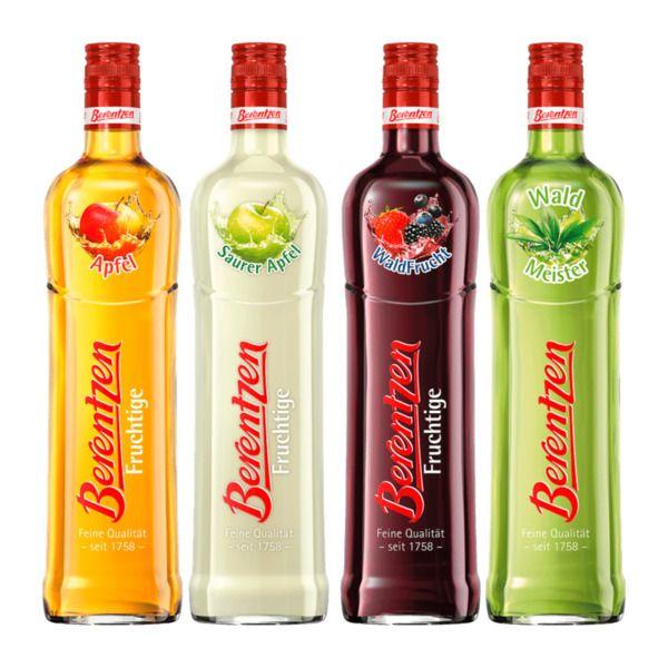 Berentzen - Fruchtige Liköre bei Aldi Nord für 4,39€ je 0,7-Liter-Flasche: Waldmeister, Saurer Apfel, Waldfrucht & Apfel