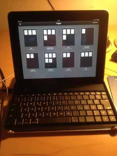 TrekStor i.Gear agent Bluetooth Tastatur und Schutzhülle für Apple iPad 1