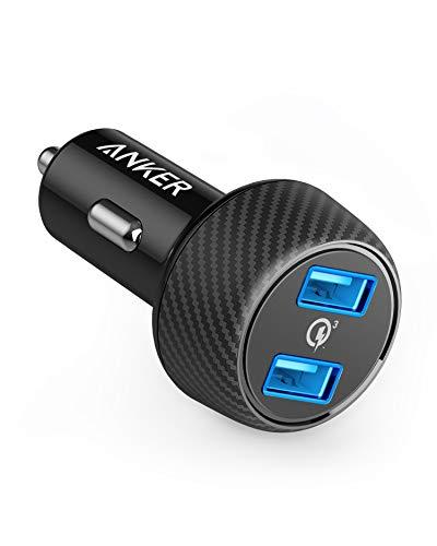 (Amazon Prime) Anker PowerDrive Speed 2 39W Auto Ladegerät,2 Port Kfz Ladegerät mit Quick Charge 3.0 und PowerIQ