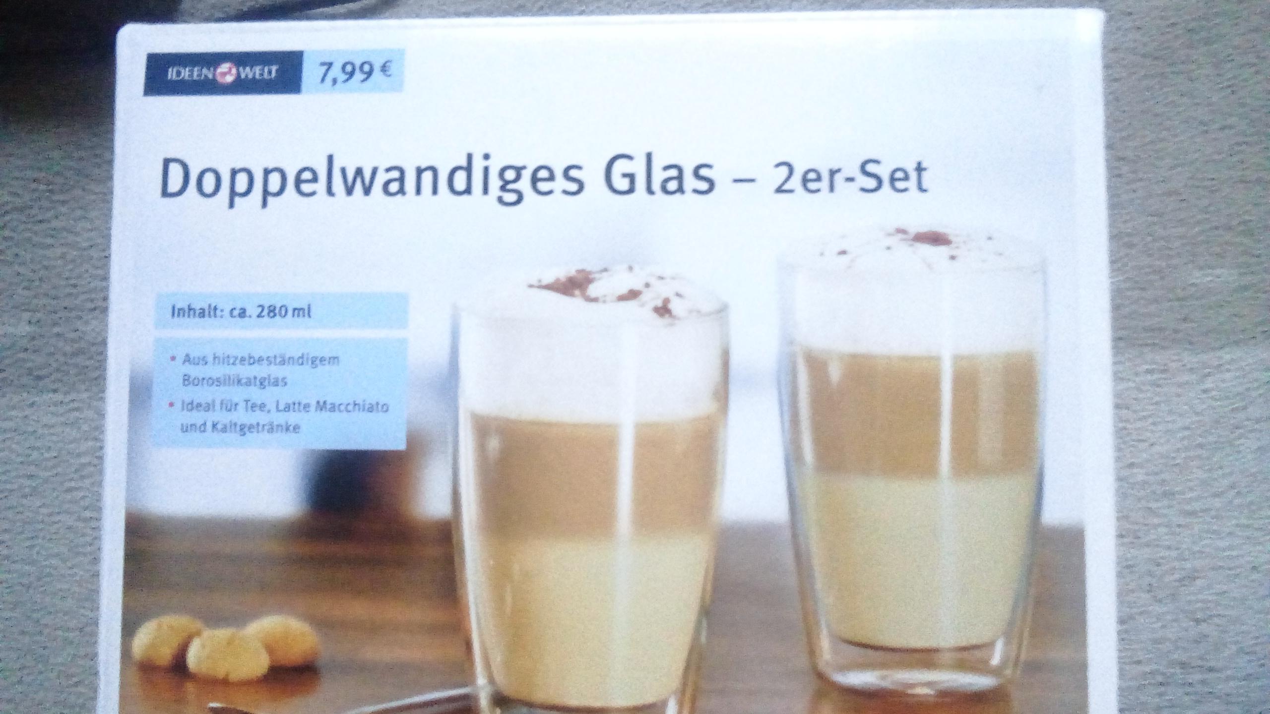 [Rossmann ab 28.1] 2er Set doppelwandige Thermo Gläser je ca. 280ml, mit 10% Gutschein nur 7,19€