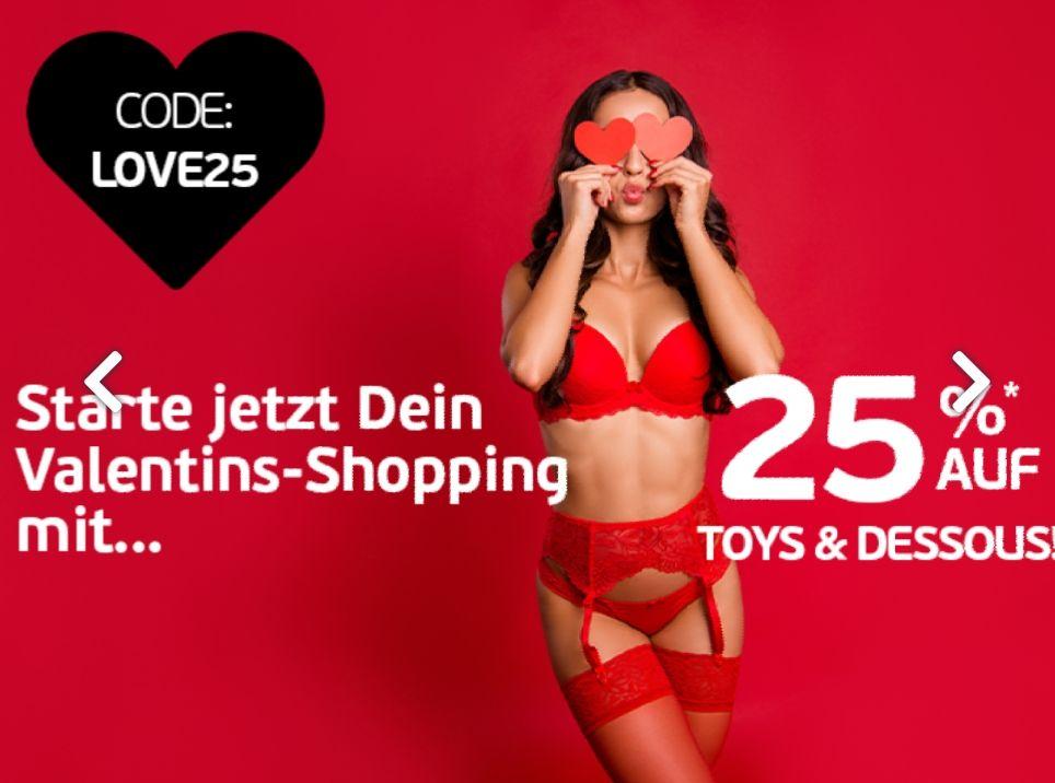 Beate Uhse: Valentinstag Special, 25% Extra Rabatt auf Dessous und Toys