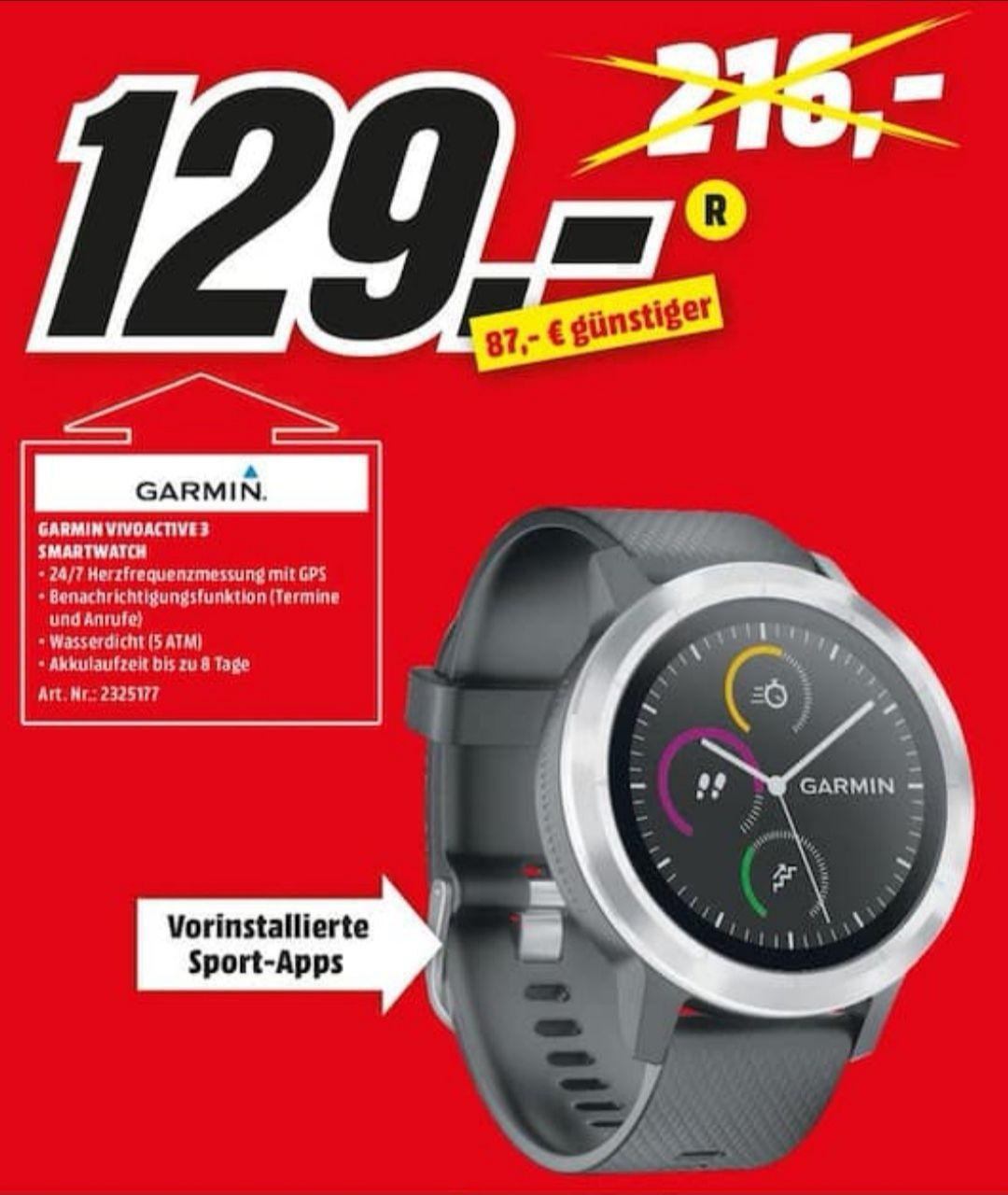 Garmin Vívoactive 3 Smartwatch für 129€ [Lokal Media Markt Marktredwitz]