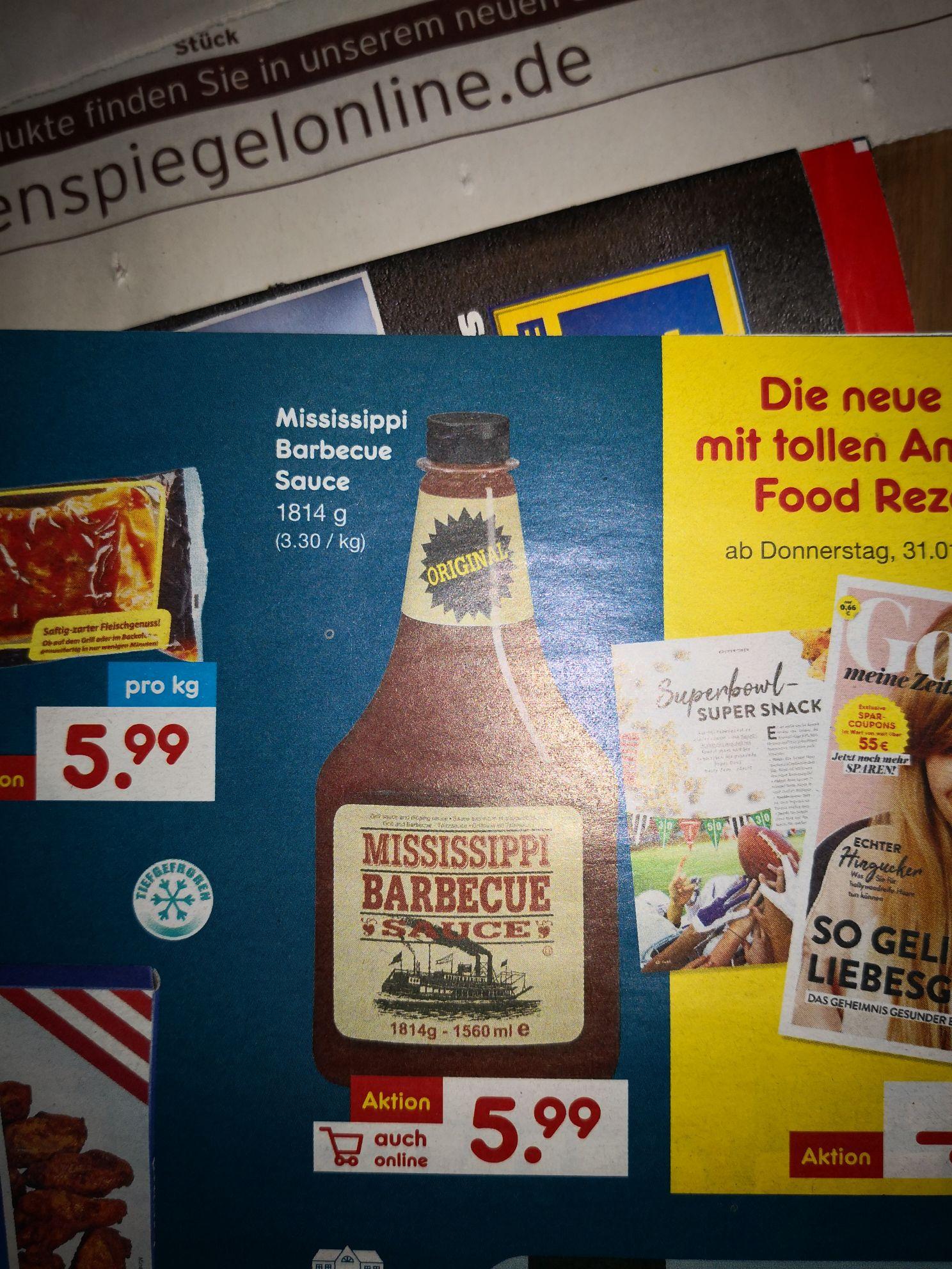 [bundesweit & offline] Mississippi BBQ Sauce 5,99€ bei Netto ohne Hund