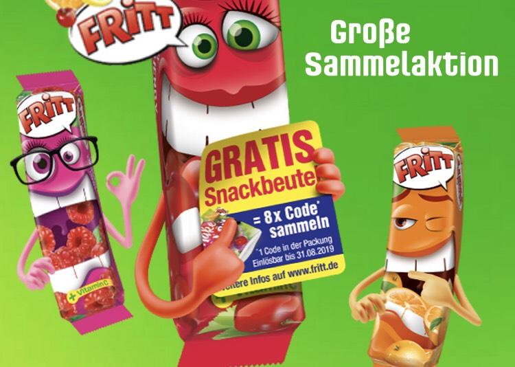 Fritt: Sammelaktion - 8 Codes sammeln und gratis Snackbeutel erhalten