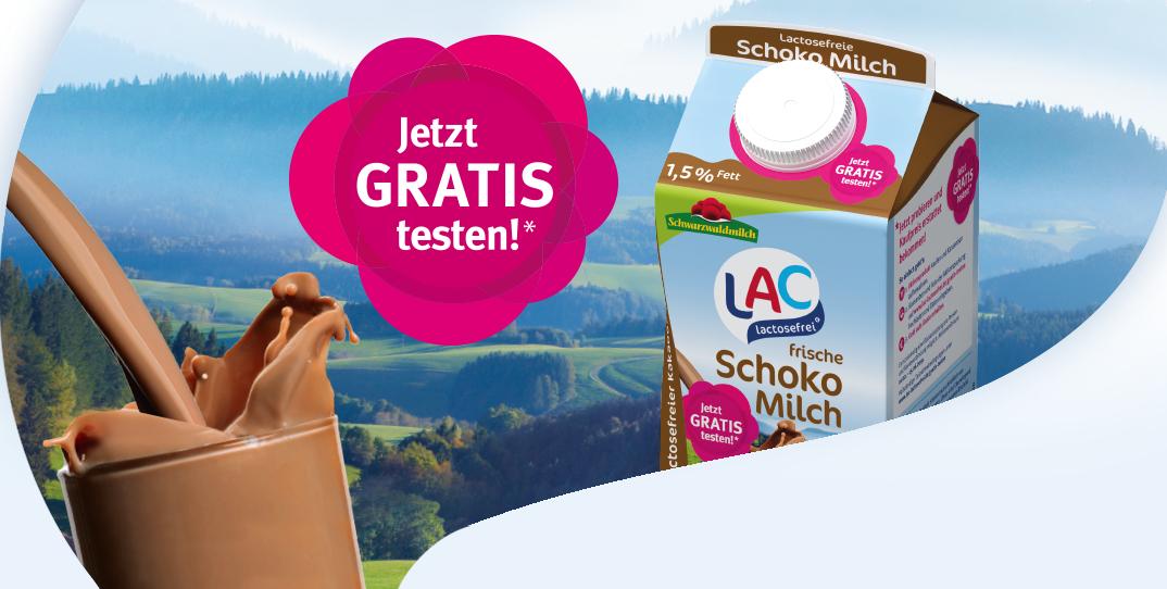 [GzG] LAC lactosefreie Schokomilch gratis testen