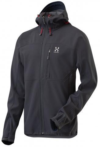 Haglöfs Reptile II Hood black [M und XL] Gute Outdoor Softshelljacke für 117,30 €