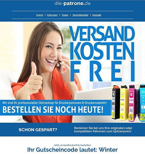 Druckerpatronen versandkostenfrei bestellen bei die-patrone.de