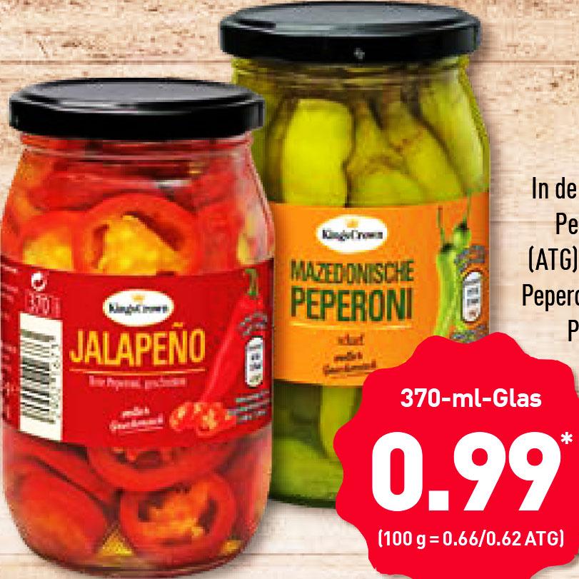 Jalapeños im Glas für nur 0,99€ bei (Aldi Nord )