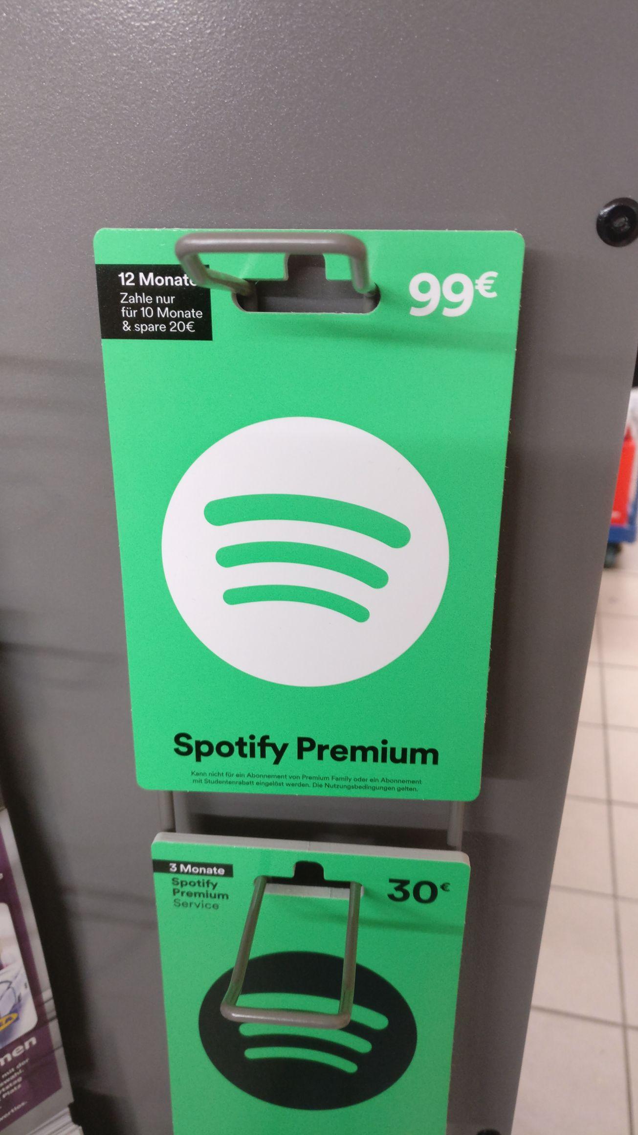 [Lokal?] Edeka Spotify Premium 12 Monate Guthabenkarte für 99€