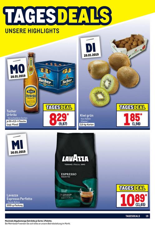 Lavazza Espresso Perfetto 1kg bei Metro am 30.01.2019