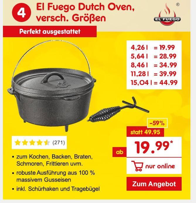 El Fuego Dutch Oven in verschiedenen Größen