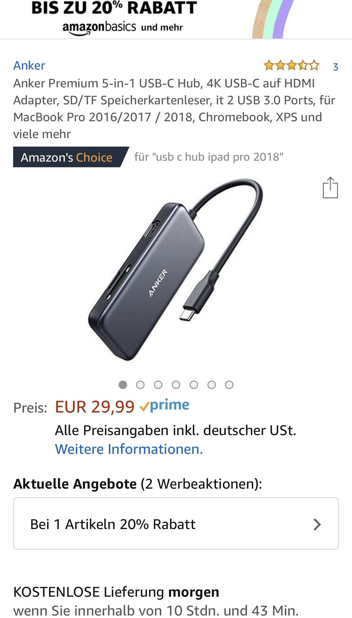 Anker Premium 5-in-1 USB-C Hub