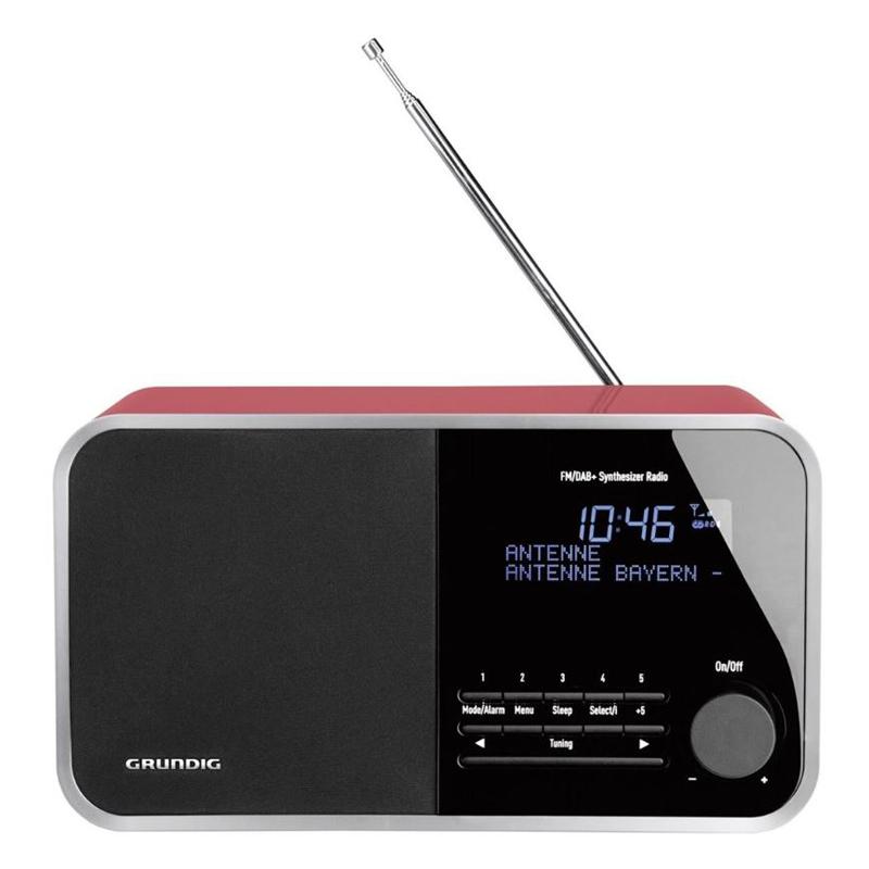 Grundig TR 2200 DAB+ Radiowecker glanz/rot