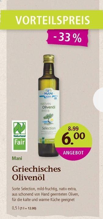 Denns Biomarkt - Mani Bio - Olivenöl Griechenland -
