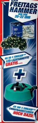 """[Toom Baumarkt] """"kostenlose"""" Lichterkette (ab 50€), Christbaumständer (ab 100€ Einkaufswert)"""