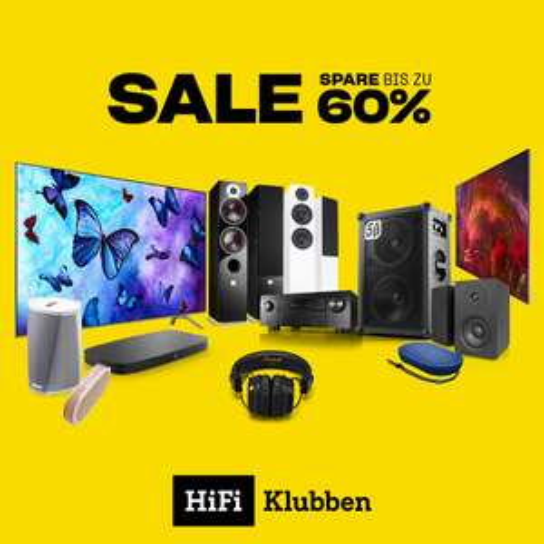 Blow-Out Sale bei HiFi Klubben (Sonos, Denon, B&O Play usw.)