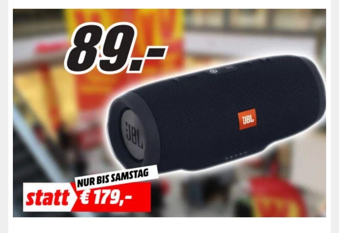 JBL Charge 3 schwarz Bluetooth Lautsprecher für 89€ [Lokal Media Markt Aschaffenburg]